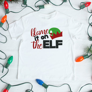 Blame it on the Elf Kids Tee - Inspired Hearts Boutique