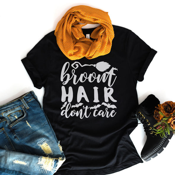 Broom Hair Don't Care Tee - Inspired Hearts Boutique