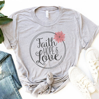 Faith Hope & Love Women's Shirt - Inspired Hearts Boutique