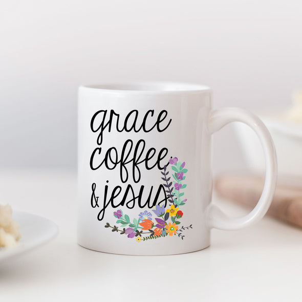 Grace Coffee & Jesus Mug