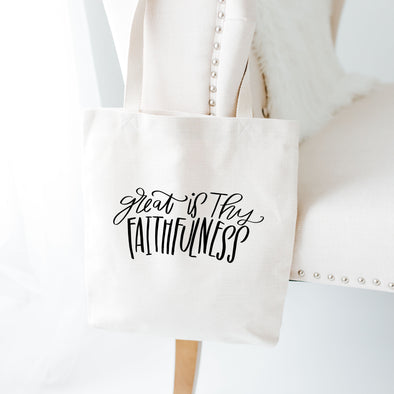 Great is Thy Faithfulness Tote Bag