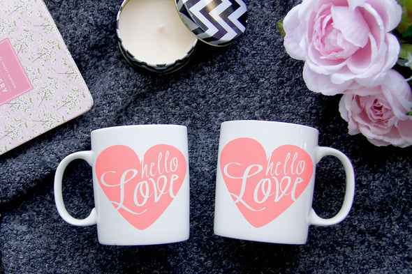 Hello Love Heart Mug - Inspired Hearts Boutique