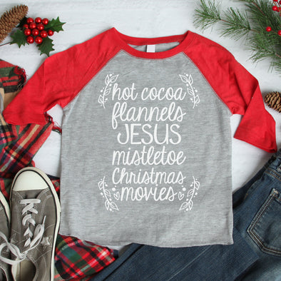 Hot Cocoa Flannels Jesus Baseball Tee - Inspired Hearts Boutique