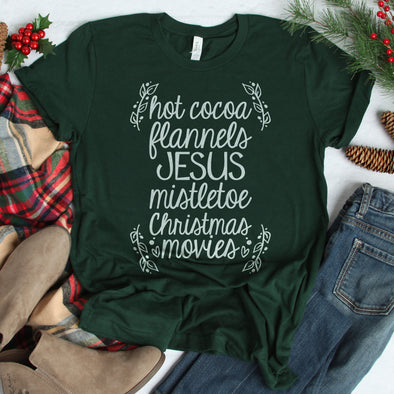 Hot Cocoa Flannels Jesus Tee - Inspired Hearts Boutique
