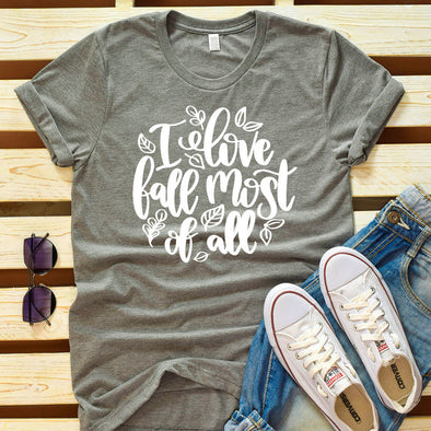 I Love Fall Most Of All Tee - Inspired Hearts Boutique