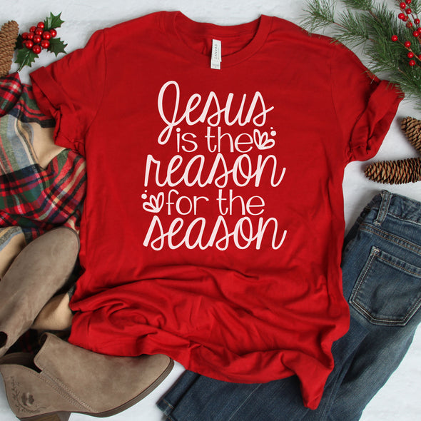 Jesus Is The Reason For The Season Tee - Inspired Hearts Boutique