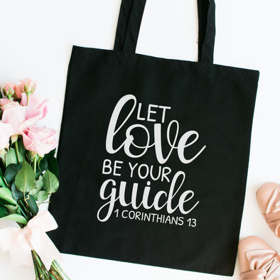 Let Love Be Your Guide Tote Bag - Inspired Hearts Boutique