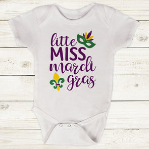 Little Miss Mardi Gras Bodysuit