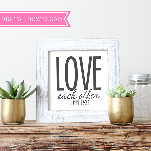 Love Each Other Wall Print