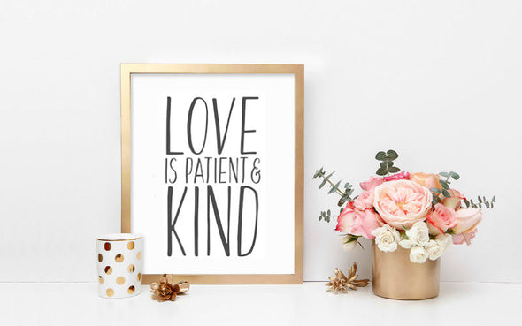 Love is Patient and Kind Wall Print
