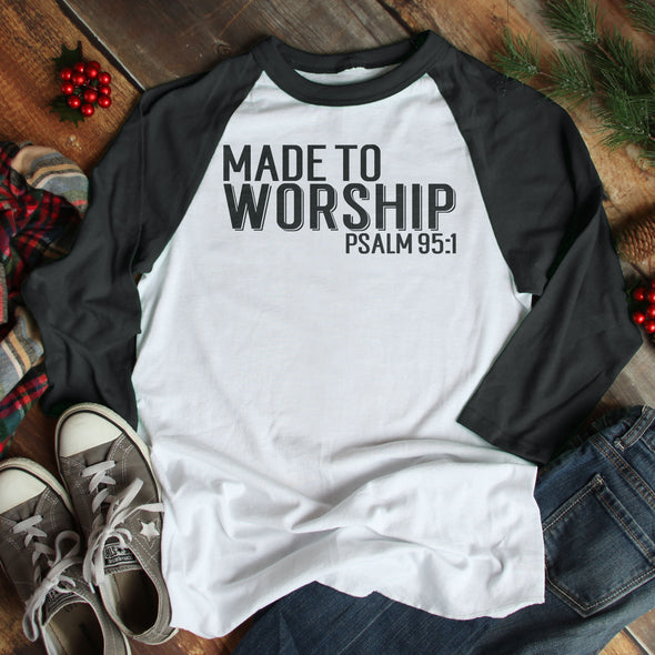 Made To Worship Baseball Tee - Inspired Hearts Boutique