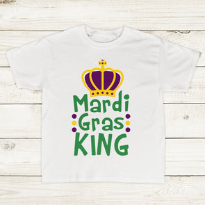 Mardi Gras King Toddler Boy Shirt