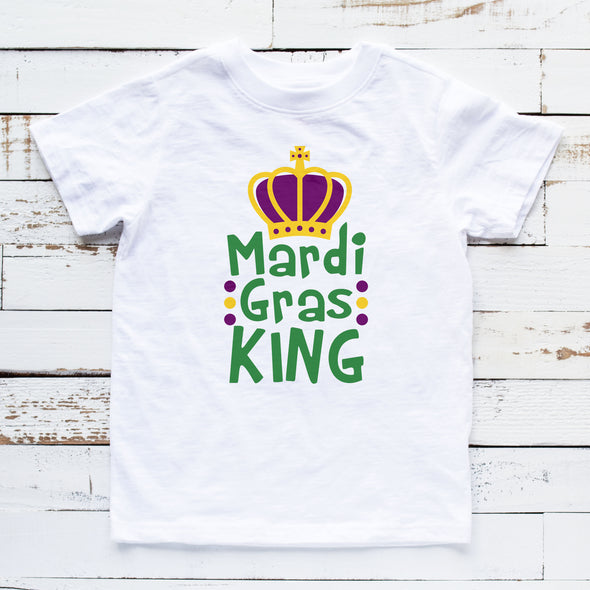 Mardi Gras King Boys Shirt