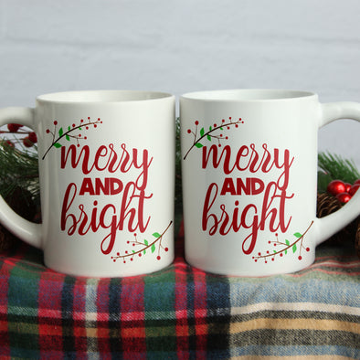 Merry and Bright Coffee Mug - Inspired Hearts Boutique