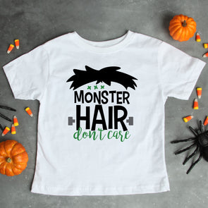 Monster Hair Don't Care Kids Tee - Inspired Hearts Boutique