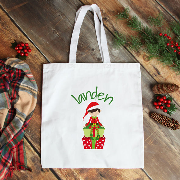 Boy Elf Personalized Tote Bag - Inspired Hearts Boutique