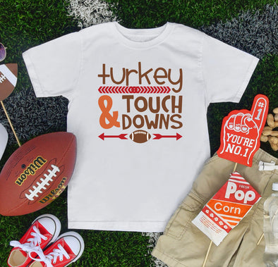 Turkey & Touch Downs Infant Tee - Inspired Hearts Boutique