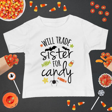 Will Trade Sister For Candy Baby Tee - Inspired Hearts Boutique