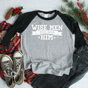 Wise Men Still Seek Him Baseball Tee - Inspired Hearts Boutique