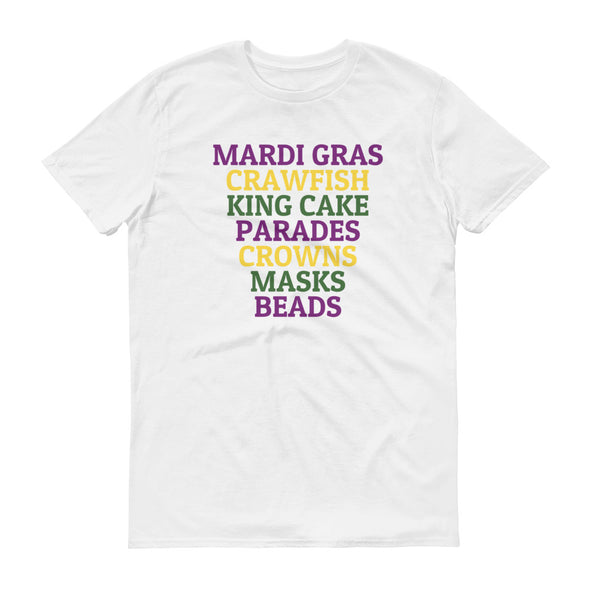 Mardi Gras Crawfish King Cake Parades Shirt