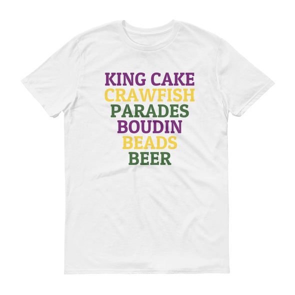King Cake Crawfish Parades Boudin Beads Beer Shirt