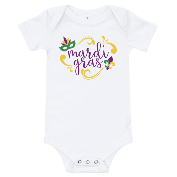 Infant Girl Mardi Gras Bodysuit