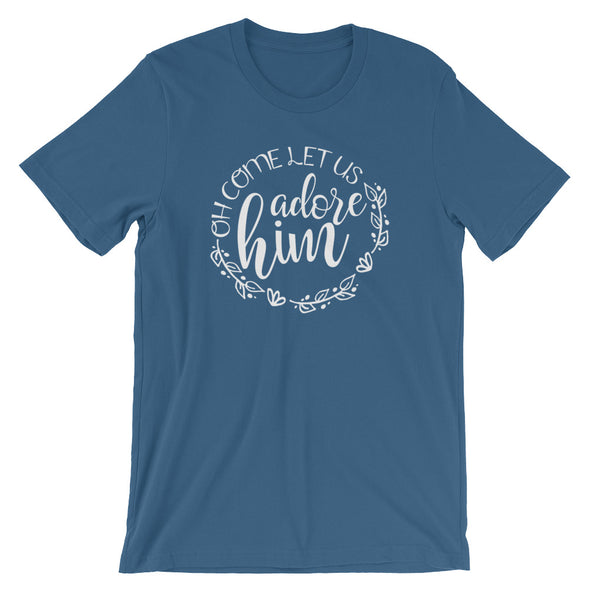 Oh Come Let Us Adore Him Tee - Inspired Hearts Boutique