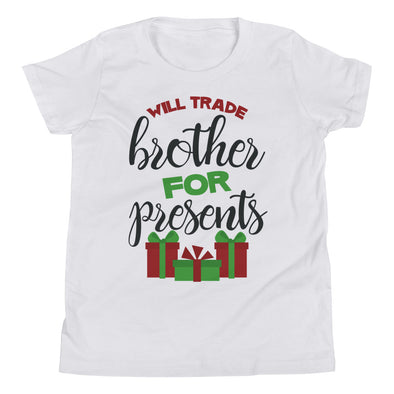 Will Trade Brother For Presents Kids Tee - Inspired Hearts Boutique