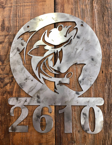 Redfish Address Sign