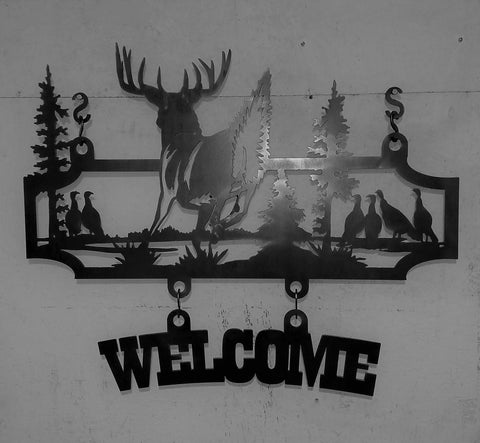 Welcome - Deer Scene