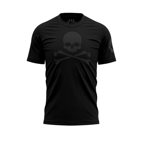 Jolly Roger Premium Men's Black Skull T-Shirt 461 Veteran Clothing Co.