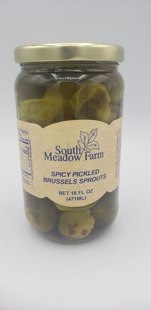 Spicy Pickled Brussel Sprouts 16oz