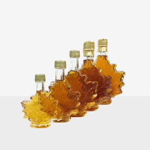 Maple Syrup in Glass - Maple Leaf