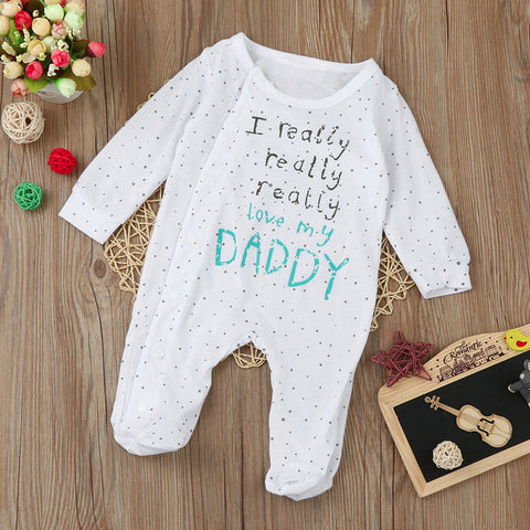 Babygros | Full Body / Message | Blanc / Bleu