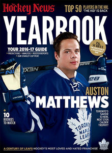 2016 - 2017 NHL YEARBOOK | AUSTON MATTHEWS | Toronto Cover