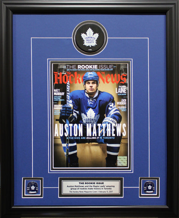 AUSTON MATTHEWS | THE ROOKIE ISSUE 2017 | FRAMED COVER