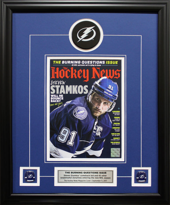 STEVEN STAMKOS | THE BURNING QUESTIONS ISSUE| FRAMED COVER