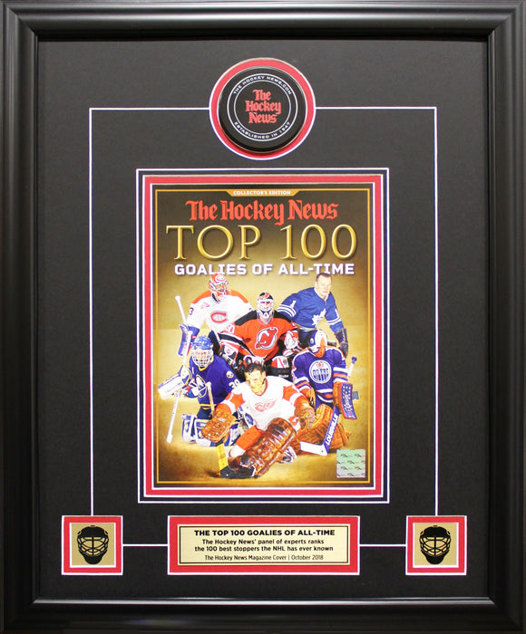 TOP 100 GOALIES OF ALL-TIME | FRAMED COVER