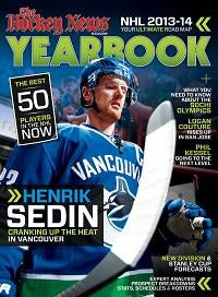 2013 - 2014 NHL YEARBOOK | Vancouver Cover