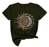 Army Green Sun Moon Women's T-Shirt - Live by the Sun, Love by the Moon