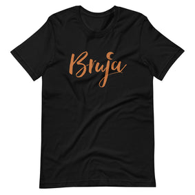 Bruja Black & Orange T-Shirt - Orange Print