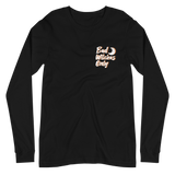 Black Bad Witches Only Long Sleeve T-Shirt - White/Orange