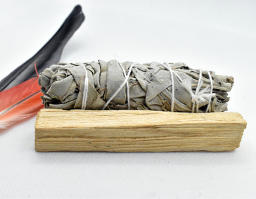 White Sage Smudge Stick + Palo Santo Stick Bundle