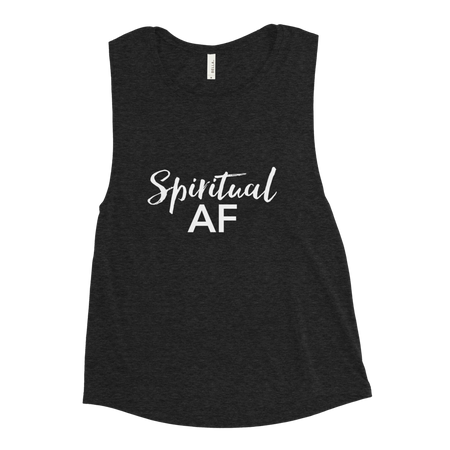 Black Spiritual AF Shirt - Tank Top