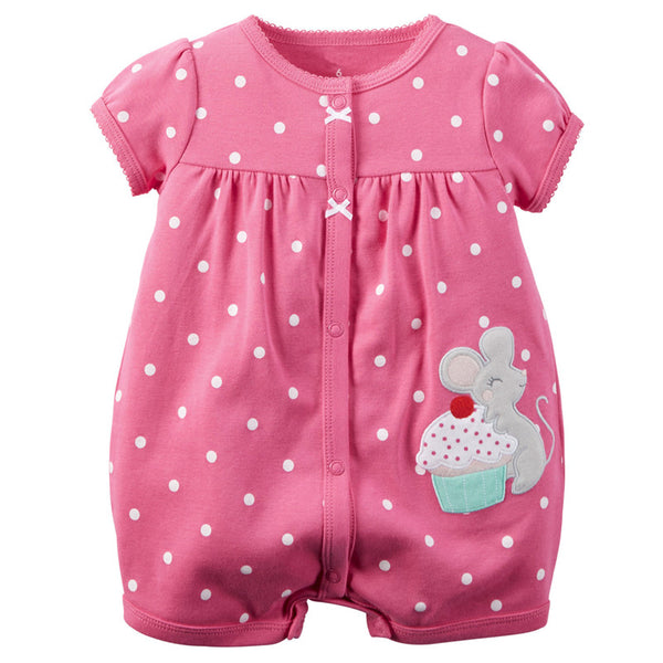 b709025f3be4f Baby Rompers Summer Baby Girl Clothes 2017 Baby Girl Dress Cotton Newborn  Baby Clothes Roupas Bebe Infant Jumpsuits Kids Clothes