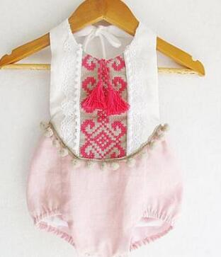 65190094aa2 ... baby rompers christmas style baby boutique clothes newborn baby girls  clothes vintage floral girls jumpsuit ...