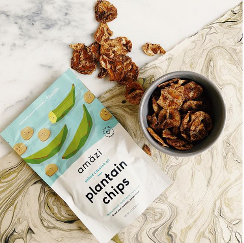 Amazi - Salted Coconut Oil Plantain Chips, 2.2oz on myPanier