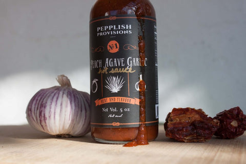 pepplish provisions-peach garlic agave-mypanier