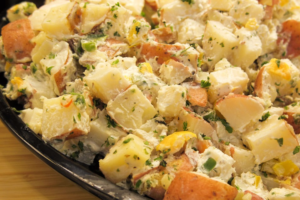 potato salad mypanier herbs olive oil