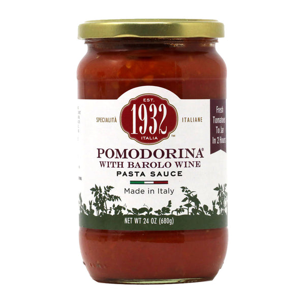 1932 - Pomodorina Pasta Sauce with Barolo Wine, 24oz Jar
